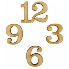 Цифры для часов арабские (фанера) 4шт (Ж-В-0168)