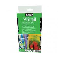 Набор красок по стеклу на основе растворителя Pebeo Vitrail 12 цветов по 20 мл (P-754402)