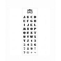 Трафарет Цифры и буквы. Латиница (ДП-Т-043)