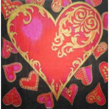 Свадьба, сердца, любовь