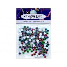 Глазки для игрушек, неоновые, 7 мм, 220 шт (ADB7550-7SV.230)