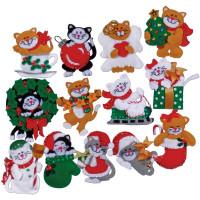 Набор для изготовления 13 игрушек Design Works Котики (DW5396)
