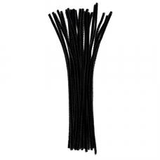 Меховая проволока Darice 25 шт, 30 см х 6мм, черный (10423 90)