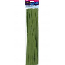 Меховая проволока Darice 25 шт, 30 см х 6мм, болотно-зеленый (10423 64)