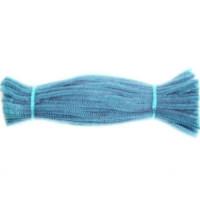 Набор меховой (синельной) проволоки, голубой, 100 шт (07T-YDD)