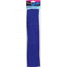 Меховая проволока Darice 25 шт, 30 см х 6мм, темно-синий (10423 40)
