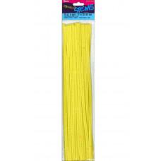 Меховая проволока Darice 25 шт, 30 см х 6мм, желтый (10423 20)