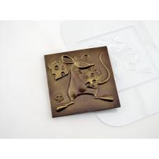 Пластиковая форма для шоколада Три сыра (035)