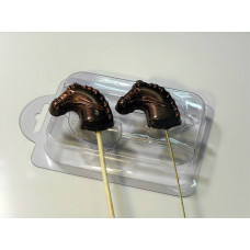 Форма для шоколада Лошадка на палочке (011)