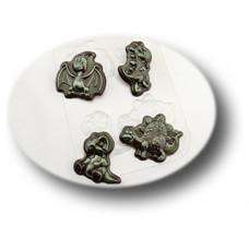Пластиковая форма для шоколада Затерянный Мир (082)