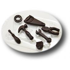 Пластиковая форма для шоколада Инструменты (085)