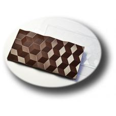 Пластиковая форма для шоколада Плитка Кубики (0108)