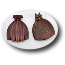 Пластиковая форма для шоколада Вечерние платья (077)