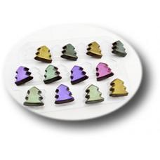 Пластиковая форма для шоколада Шоко-елки (0132)