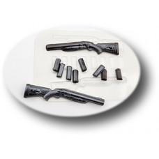 Пластиковая форма для шоколада Набор охотника (0100)