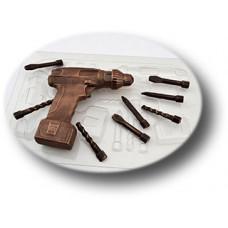 Пластиковая форма для шоколада Шуруповерт (0139)