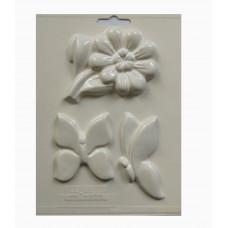 Форма для гипса Цветок, бабочки (02-2844)