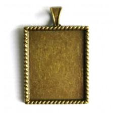 Основа для кулона прямоугольная Margo античная бронза (977547)