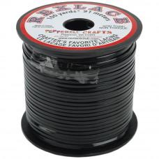 Плоский виниловый (пластиковый) шнур Pepperell, 2,4мм, черный (RX100-14)