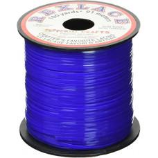 Плоский виниловый (пластиковый) шнур Pepperell, 2,4мм, синий (RX100-09)