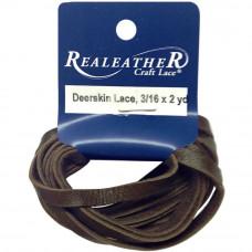 Шнур кожаный плоский Realeather Crafts Deerskin Lace, шоколадный (DOS31602 0207)