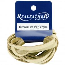 Шнур кожаный плоский Realeather Crafts Deerskin Lace, оленья кожа (DOS31602 0270)