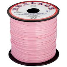 Плоский виниловый (пластиковый) шнур Pepperell, 2,4мм, розовый (RX100-02)