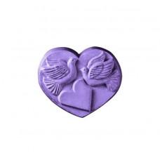 Форма для мыла Сердечко с голубками (HEARDOV1099)