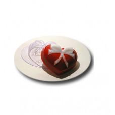 Форма для мыла Сердце с бантиком