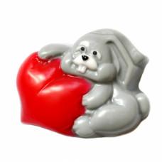 Форма для мыла Влюбленный заяц