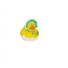 Резиновая уточка Малыш в шапочке с погремушкой