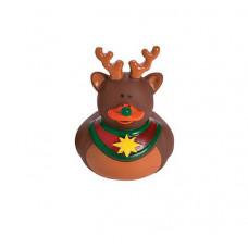 Резиновая уточка Рождественский олень со звездочкой