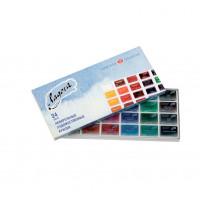 Набор акварельных красок Невская палитра Ладога 24 цвета (ЗХК-2041026)