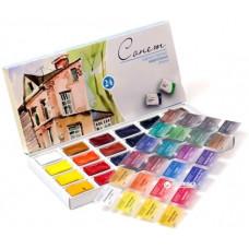 Набор акварельных красок Невская палитра Сонет 24 цвета (ЗХК-3541139)