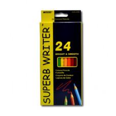 Карандаши Super Writter, 24 цветов MARCO (4100-24CB)