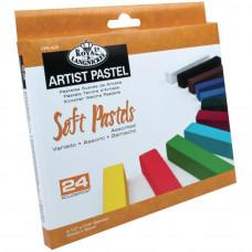 Набор цветной пастели Royal Brush, 24 цвета (CPAA24)