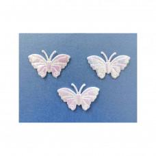 Аппликация пришивная Бабочка Only, радужный металлик, 3 шт (ЕМ-00005)