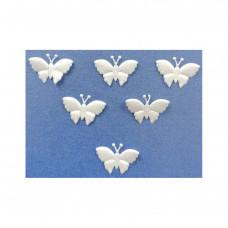 Аппликация пришивная Бабочка Only, белый, 6 шт (EM-00081)