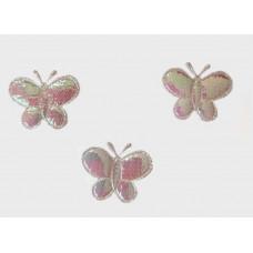 Аппликация пришивная Бабочка Only, розовый перламутр, 3 шт (ЕМ-00088)