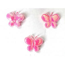 Аппликация пришивная Бабочка Only, розовый металлик, 3 шт (ЕМ-00089)