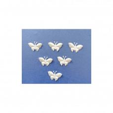 Аппликация пришивная Бабочка Only, бледно-желтый, 6 шт  (EM-00090)