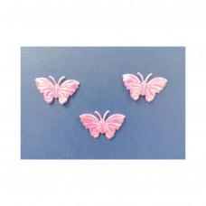 Аппликация пришивная Бабочка Only, бледно-розовый металлик, 3 шт (ЕМ-00009)