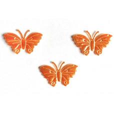Аппликация пришивная Бабочка Only, оранжевый металлик , 3 шт (ЕМ-00011)