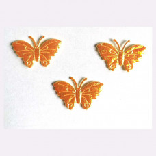 Аппликация пришивная Бабочка Only, жёлтый металлик (ЕМ-00010)