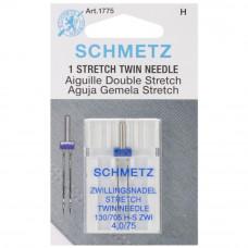 Игла для швейной машинки Schmetz двойная стрейч 75/4.0 (1775)