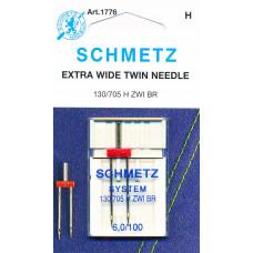 Игла для швейной машинки Schmetz двойная стандартная 100/6.0 (1776)