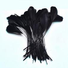 Перья гуся Only окрашенные, черные, 25 шт (863402)
