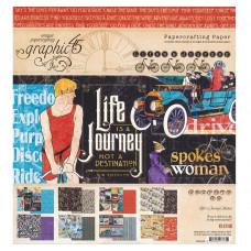 Набор бумаги для скрапбукинга 20х20 Graphic 45 Collection Lifes A Journey (GPH4501945)