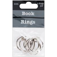 Кольца для альбомов 2 см, серебряный (31415)