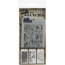 Набор трафаретов Tim Holtz Mini Layered Stencil Set #43 (MTS 43)